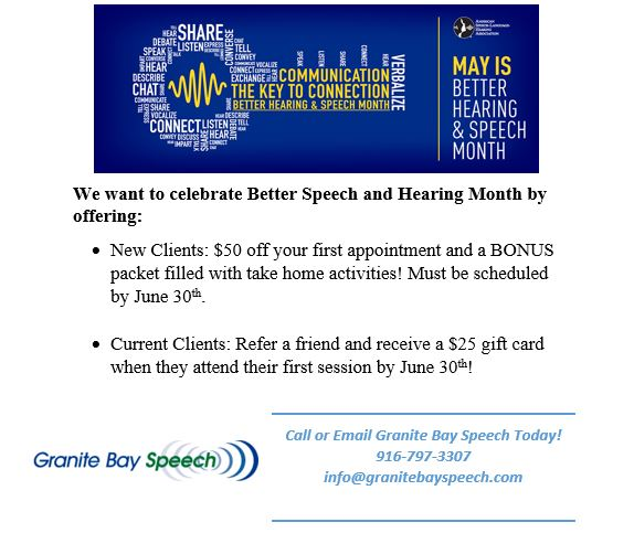 Better Speech and Hearing Month 2017